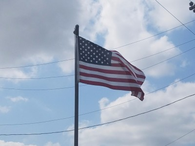 """Old Glory"" on Frenchtown Rd"