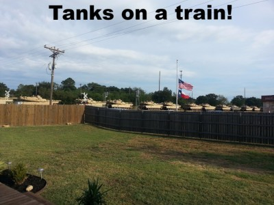 Tanks on a Train