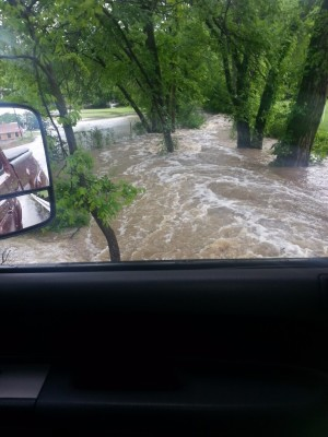 Old Justin Rd Flood