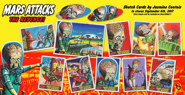 Mars Attacks Artist Sketch Cards