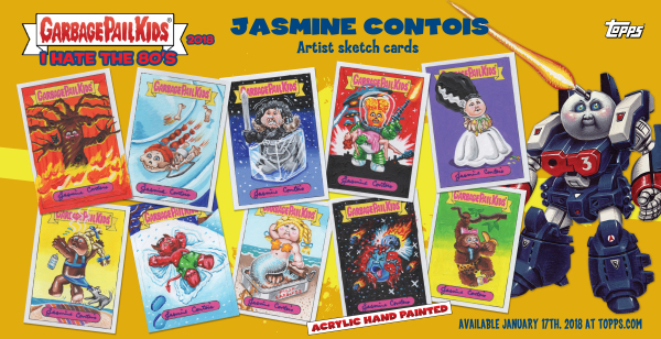 Garbage Pail Kids, We Hate the 80's Sketch cards