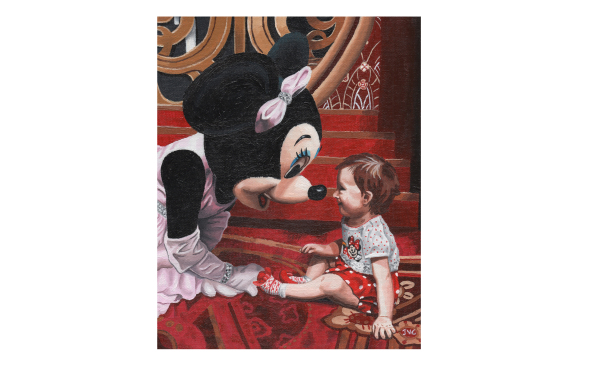 Baby and Minnie Portrait