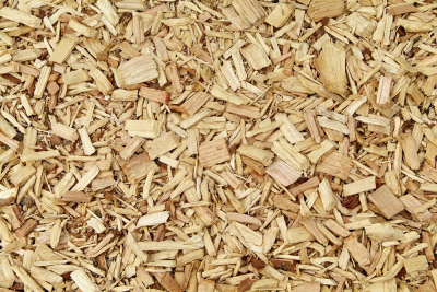 Wood chips and wood particle