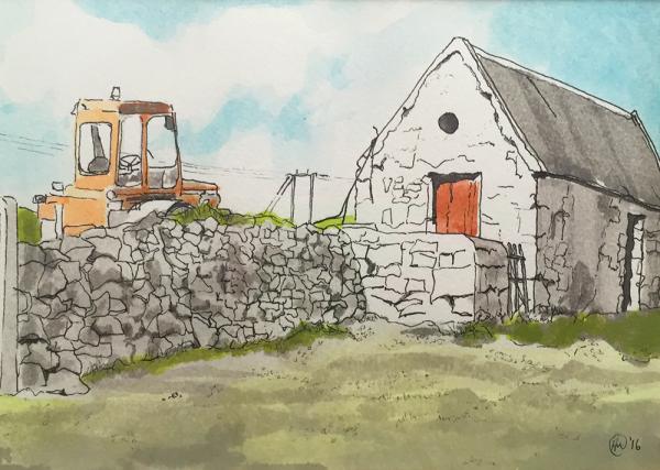 Hilary Morley Artist Galway pen watercolour Irish Painter