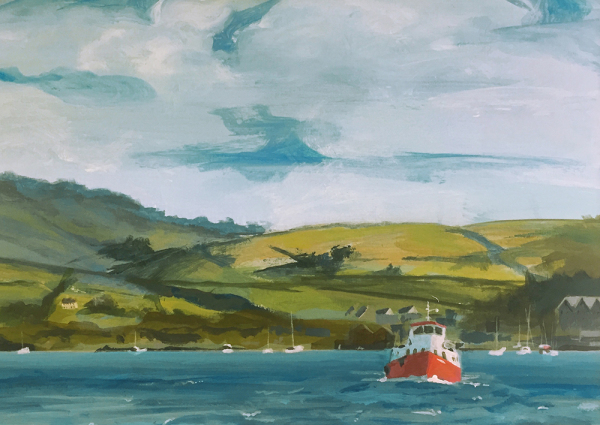 Hilary Morley Painter Sherkin West Cork Acrylic Irish Artist Landscape