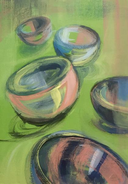 Hilary Morley Artist Galway acrylic canvas Irish Painter