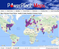 Map of coal, gas, nuclear power plants