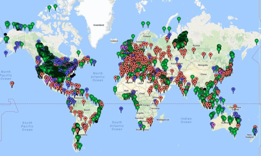 Oil & Gas Drilling Locations Worldwide