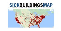 Map of hospitals and hotels with reported air quality and bacteria issues.