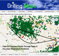 Drilling Maps User Route to Avoid Poor Air Quality