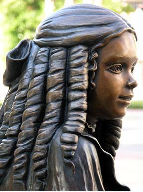 Girl in Carnegie Statue