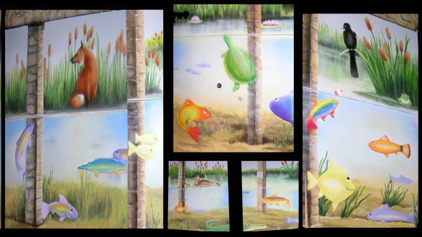Second of Five Nursery Room Murals for the United Methodist Church