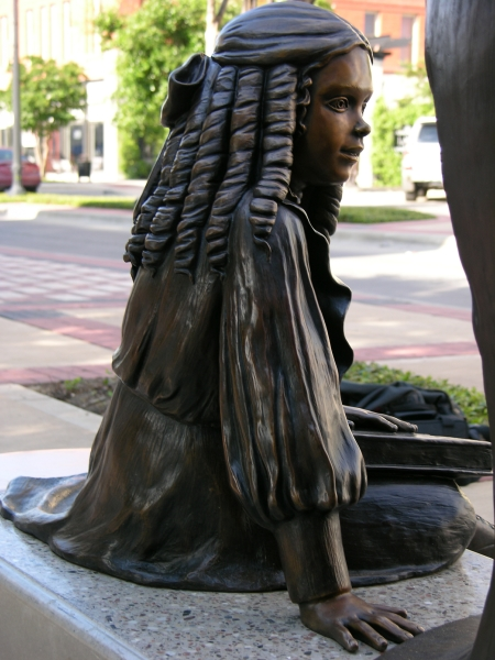 Right side of Girl in Treasured Moment statue