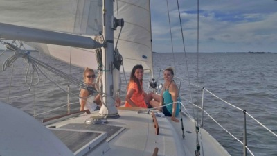 Hilton Head sailing charter dolphin  sunset cruise