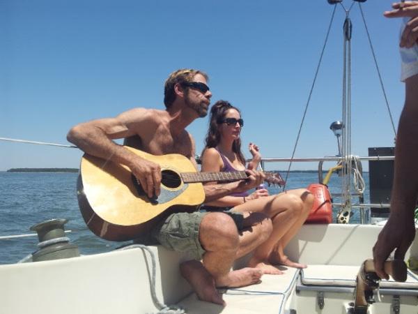 sailing hilton head charter guitar music live dolphin