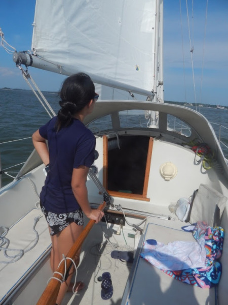 Hilton Head sailing instruction charter dolphin sunset cruise sailboat