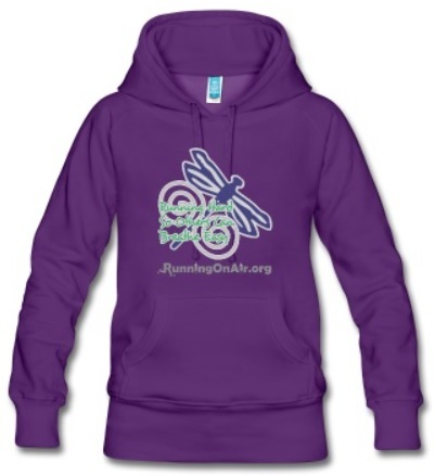 Dragonfly - I Run Hard - Women's premium hoodie