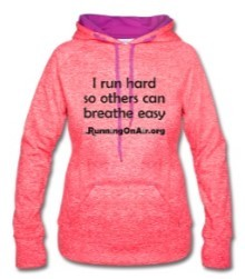 I Run Hard - Women's Speckled Hoodie