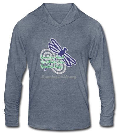 Dragonfly - I Run Hard - Tri-blend unisex hoodie t-shirt