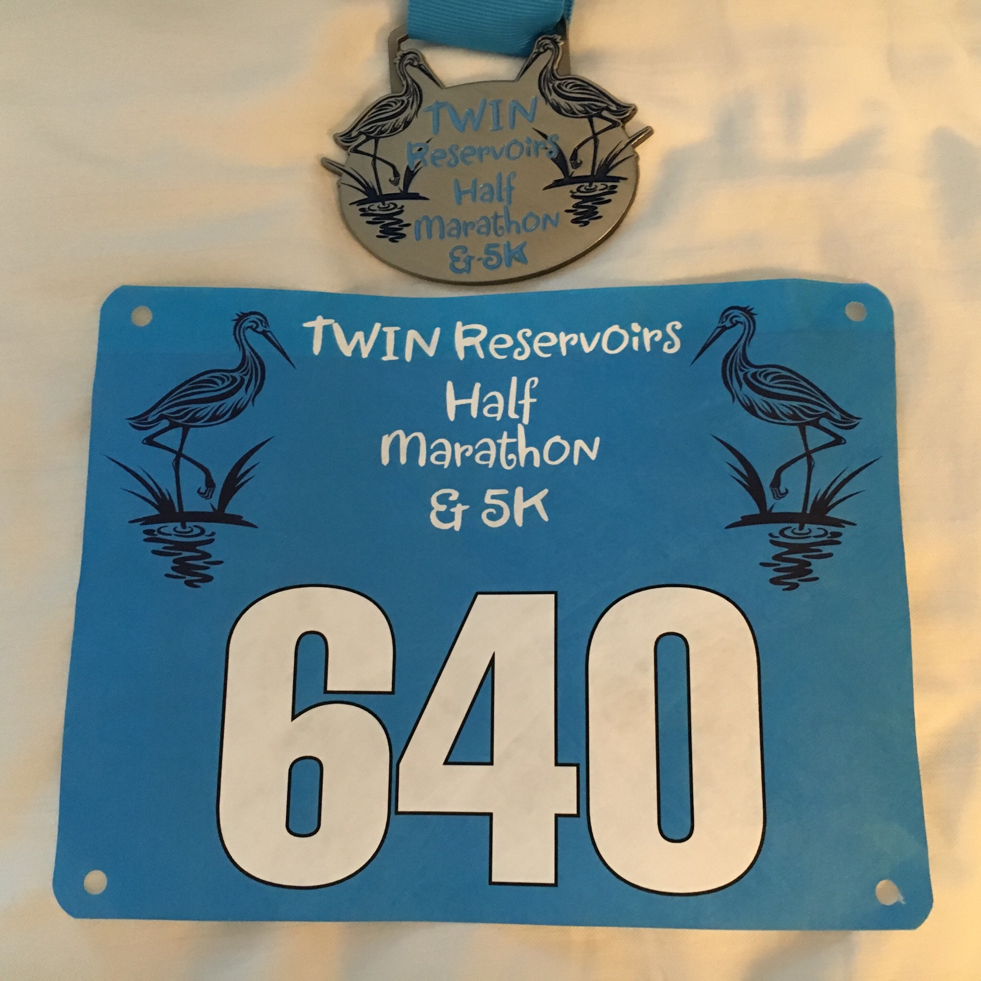Bib and medal from the race.