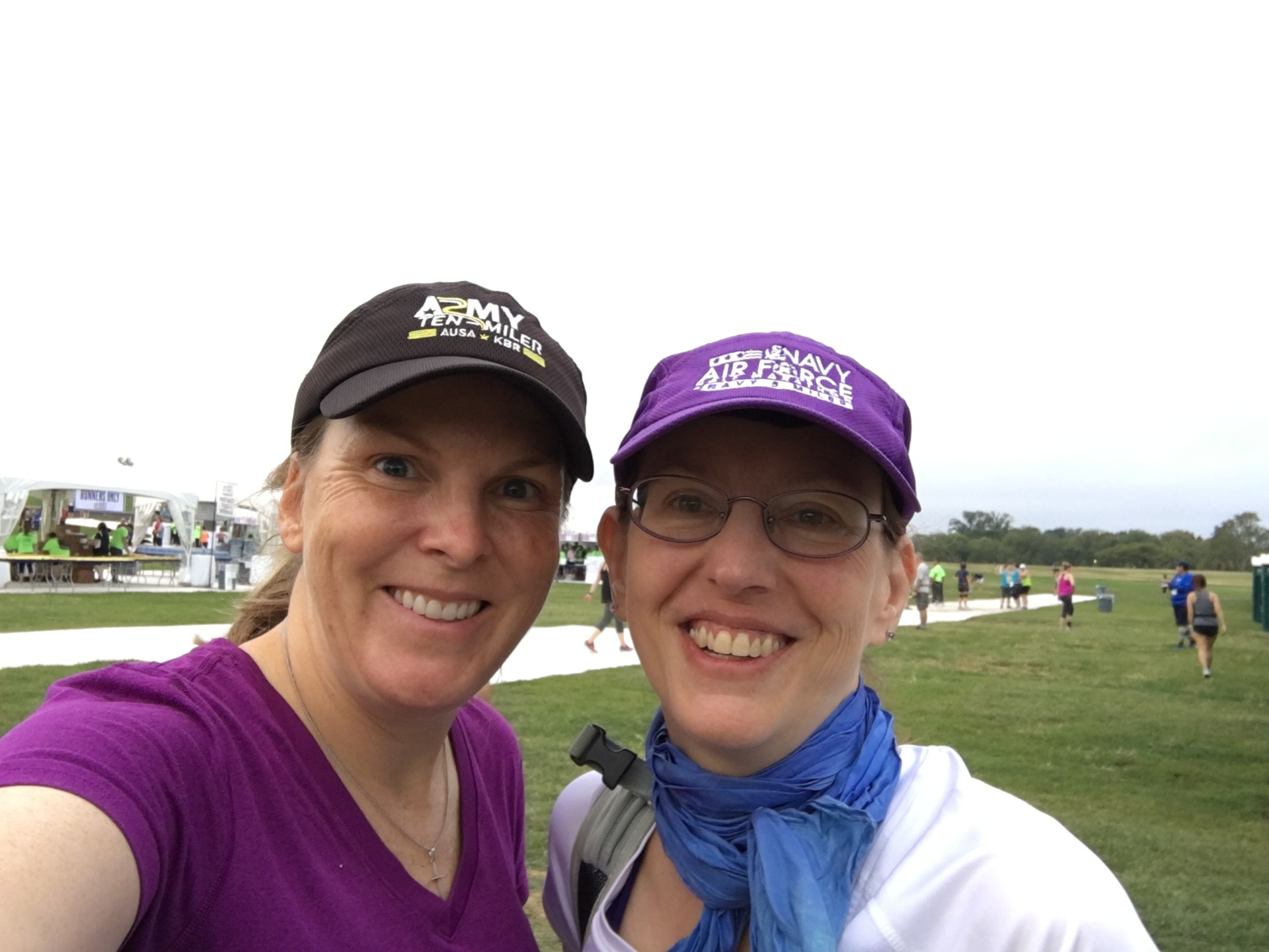 With Leslie before the race.