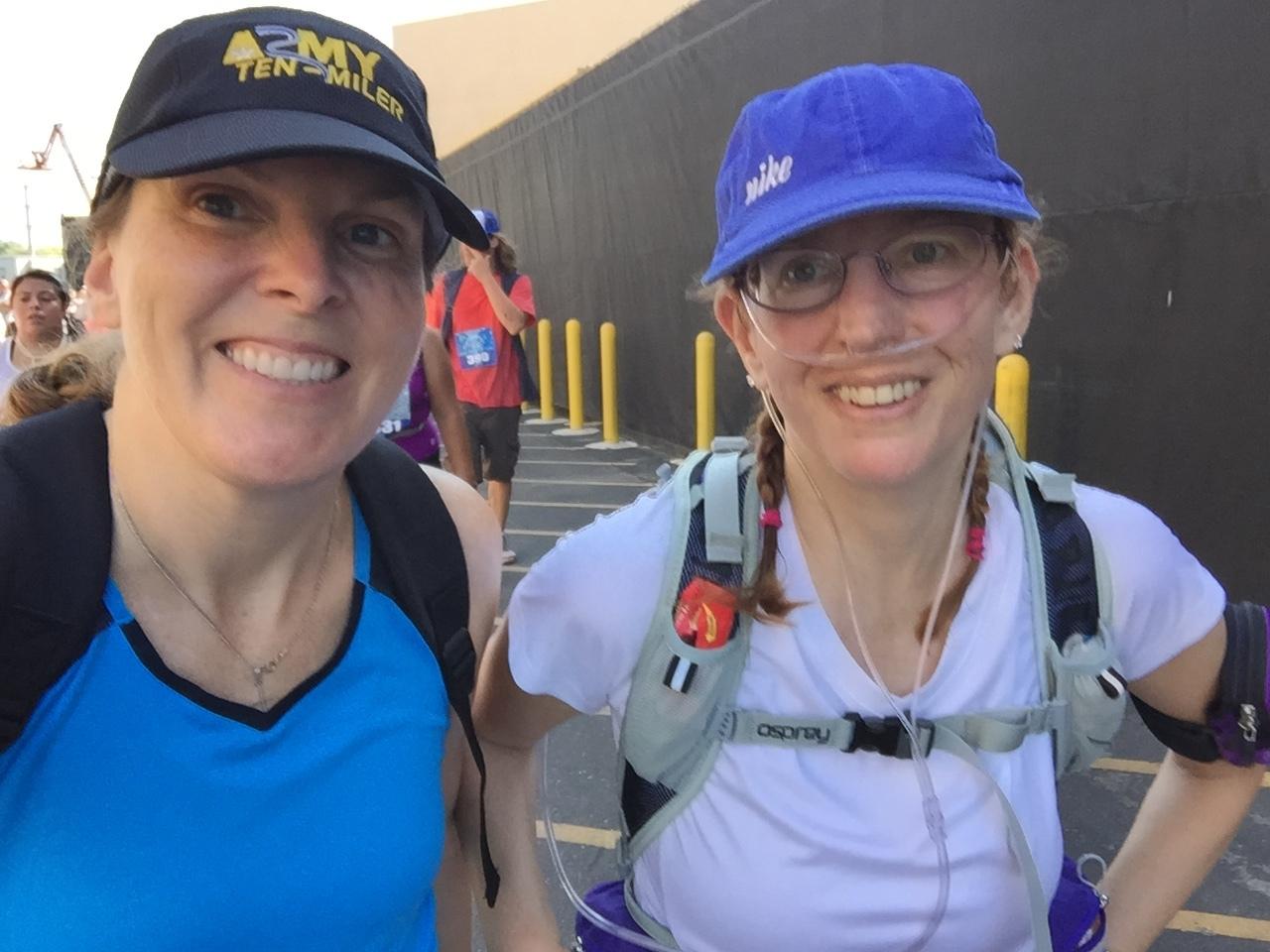 Selfie during the half marathon.