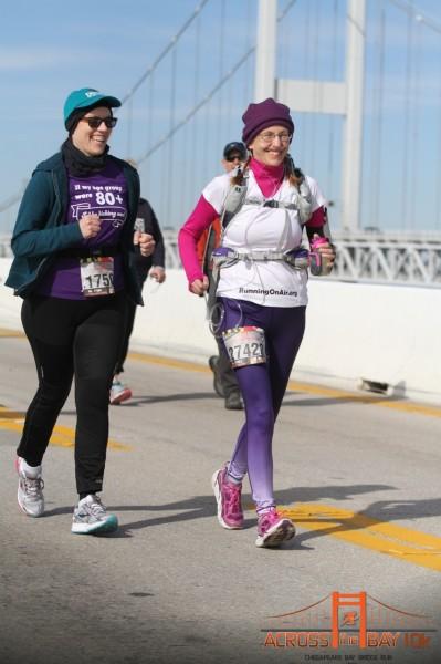 On the bridge with Kathy.