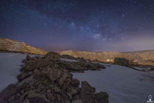Jihad Asmar Photography milky way akoura snow cold weather