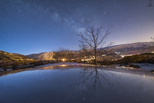 Jihad Asmar Photography reflection akoura cold snow