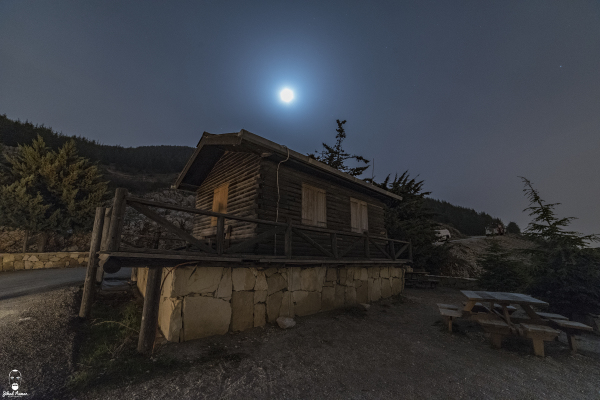 Jihad Asmar Photography moon rise bungalow entrance shouf reserve