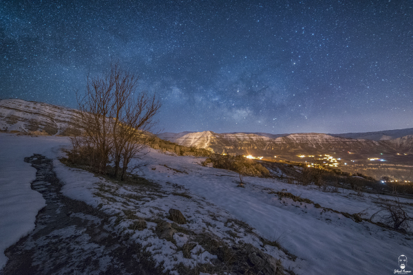 Jihad Asmar Photography milky way snow akoura