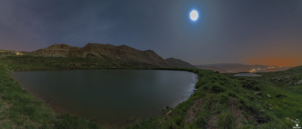 Jihad Asmar Photography moonrise akoura ponds
