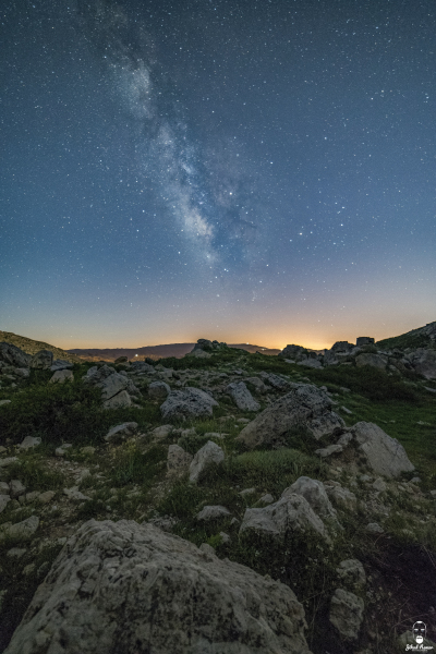 Jihad Asmar Photography akoura milky way after moonset