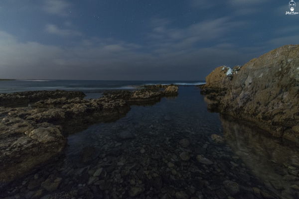 Lebanese landscape photographer - Night by the sea
