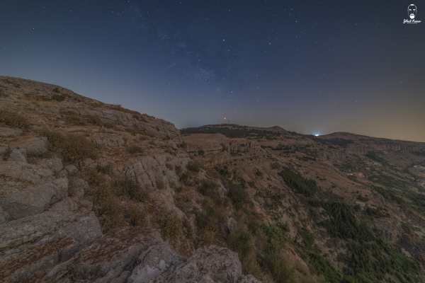 Lebanese Landscape Photographer, Lebanese Photographer Falougha night milky way Lebanon