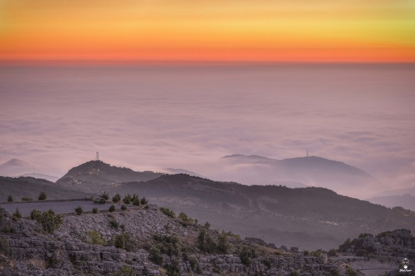 Lebanese Landscape Photographer, Lebanese Photographer another sunset from jaj, Jihad Asmar