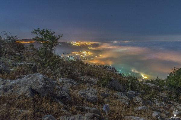 Lebanese Landscape Photographer, Lebanese Photographer, Night fog Falougha