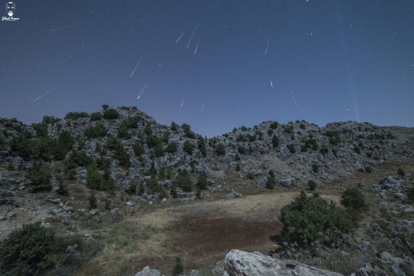 Lebanese Landscape Photographer, Lebanese Photographer, Perseids Meteor Many meteors, Jaj Lebanon
