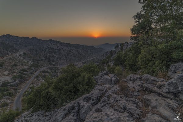 Lebanese Landscape Photographer, Lebanese Photographer, sunset mountains Jaj