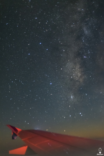 Lebanese Landscape Photographer, Lebanese Photographer, Plane milky Way photograph, Project