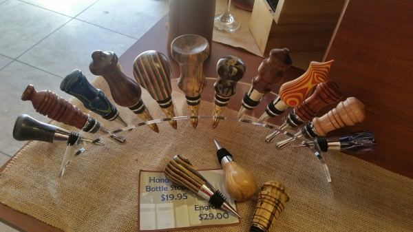 Hand turned wine stoppers