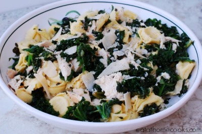 15 Minute Recipe: Chicken Tortellini with Kale