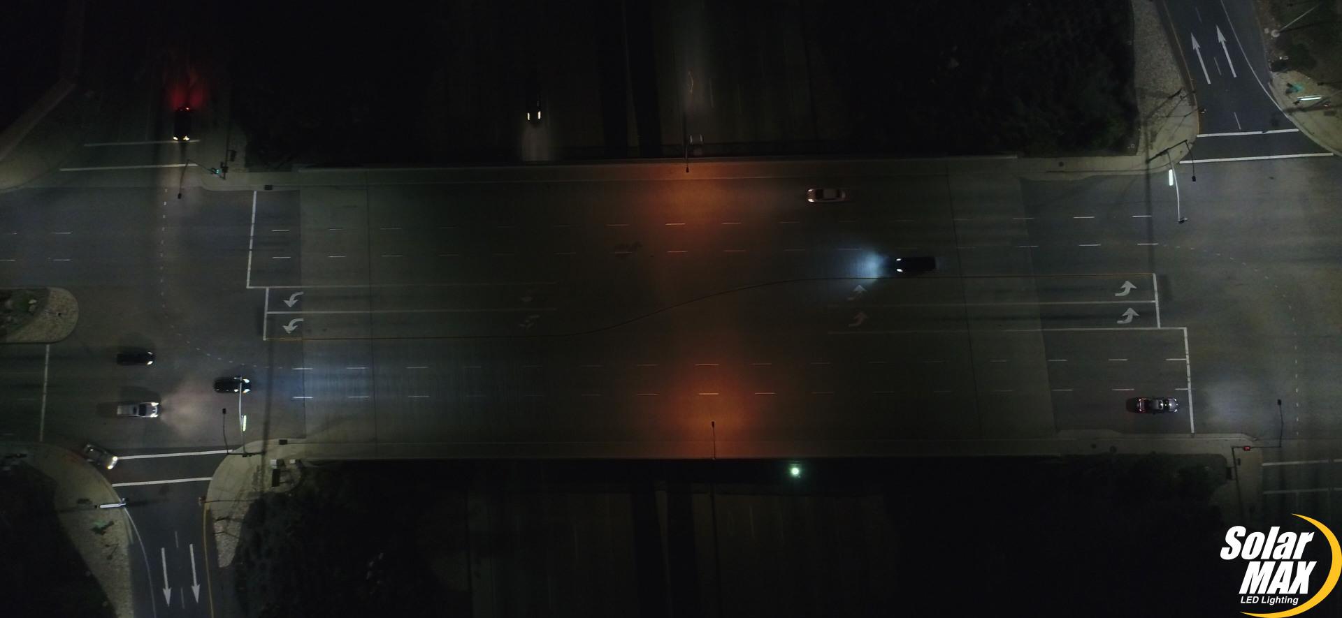 RDC4IT SOLARMAX LED TECH CALTRANS LIGHT BEFORE AFTER DRONE
