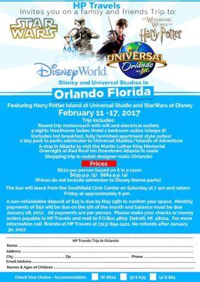 Disney & Universal Studios February 11th - 17th 2017