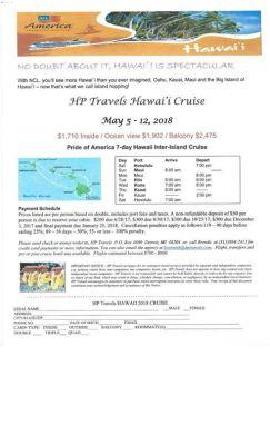 Hawaii Inter-Island Cruise May 5th - 12th, 2018