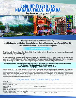 Niagara Falls, Canada September 7 - 9, 2018