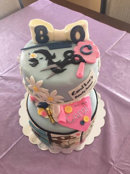 80th Birthday Story Cake