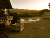 Crush pad at Venge Vineyards