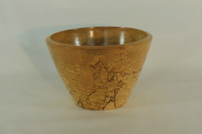"""#003       Spalted Maple Bowl     6"""" wide by 4"""" high       $45.00"""
