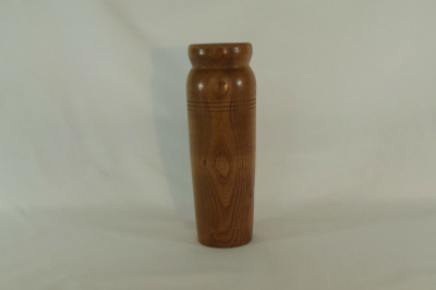 """#009       Cedar Vase with Glass Insert       3"""" wide by 8"""" high       $35.00"""